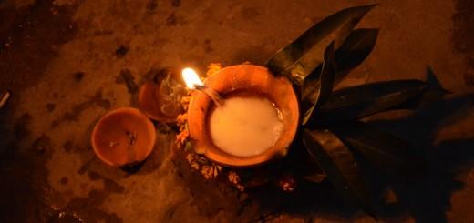 varanasi india lampa